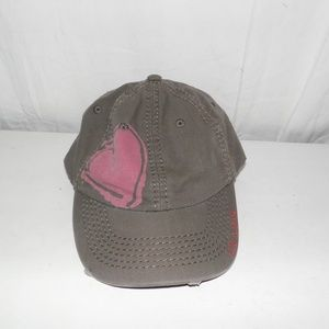 Life Is Good Brown Distressed Heart Hat Cap